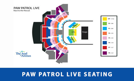 PAW Patrol seating chart