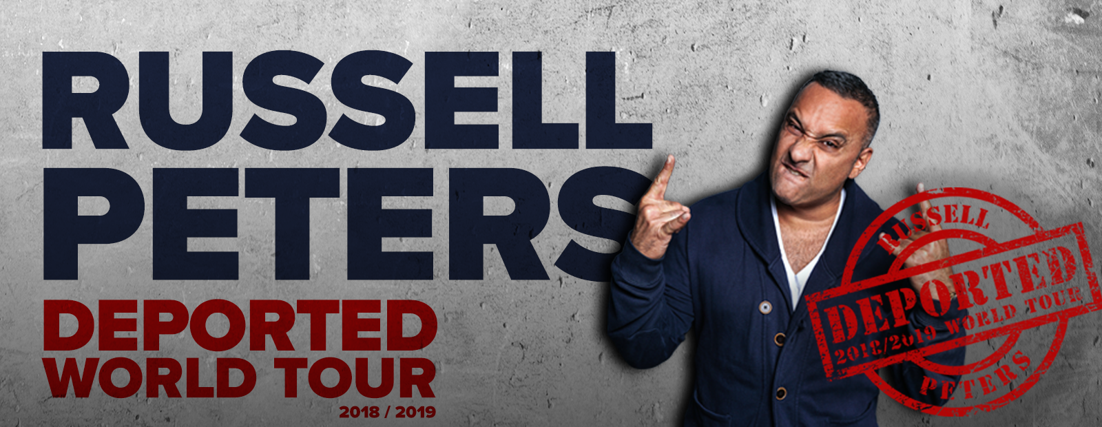 Russell Peters Deported World Tour is coming to the Aud November 19 2018