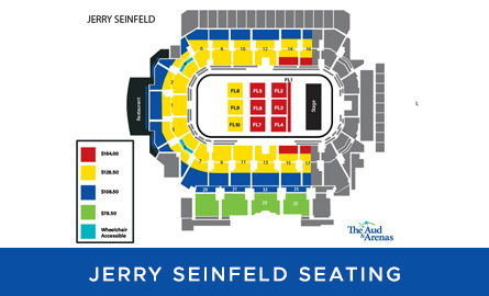 Seating chart for Jerry Seinfeld