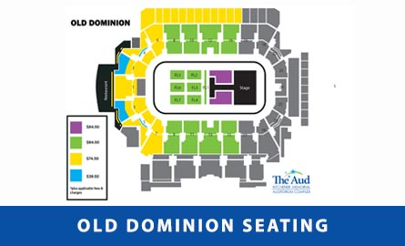 Seating chart for We Are Old Dominion Tour