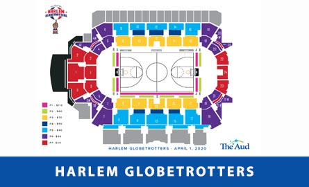 Seating chart for Harlem Globetrotters