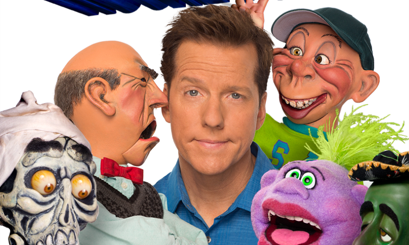 Jeff Dunham with his puppets
